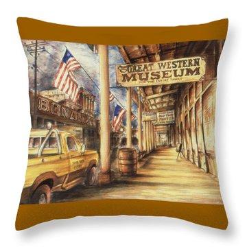 Virginia City Nevada - Western Art Painting Throw Pillow
