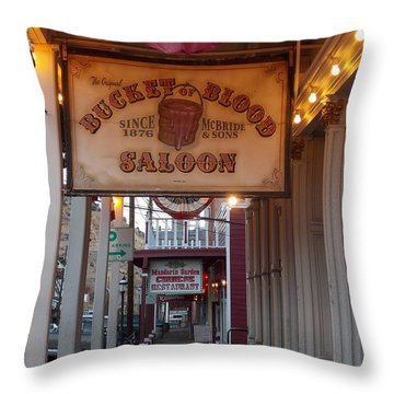 Virginia City Signs Throw Pillow