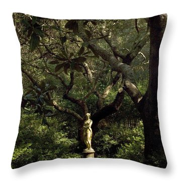 Throw Pillow featuring the photograph Virginia Dare Statue by Greg Reed