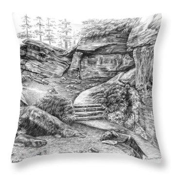 Virginia Kendall Ledges - Cuyahoga Valley National Park Throw Pillow