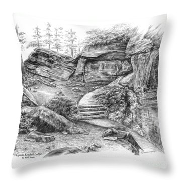 Virginia Kendall Ledges - Cuyahoga Valley National Park Throw Pillow by Kelli Swan