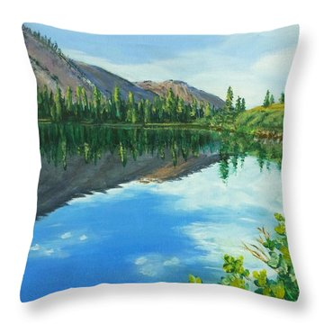 Virginia Lake Throw Pillow