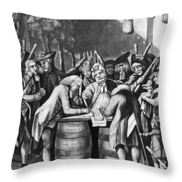 Virginia Loyalists, 1774 Throw Pillow by Granger