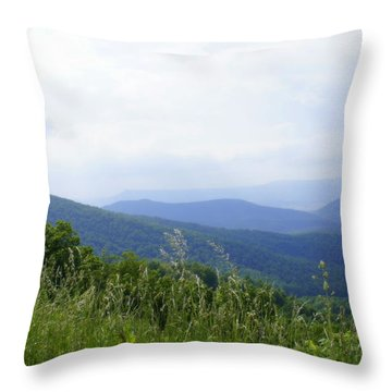 Throw Pillow featuring the photograph Virginia Mountains by Laurie Perry