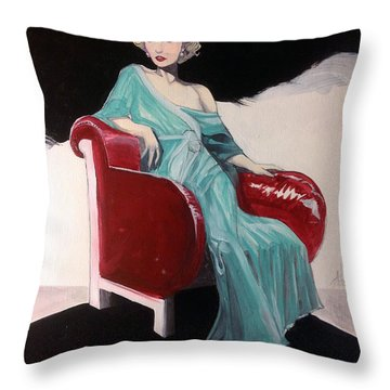 Virginia Smith Throw Pillow by Jimmy Adams