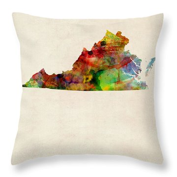 Richmond Virginia Throw Pillows