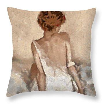Virginity Throw Pillow