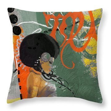 Virgo - B Throw Pillow by Corporate Art Task Force