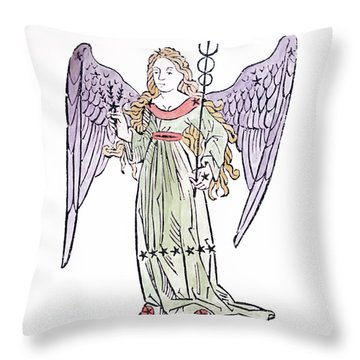 Virgo An Illustration From The Poeticon Throw Pillow by Italian School