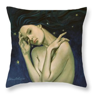 Virgo  From Zodiac Series Throw Pillow by Dorina  Costras