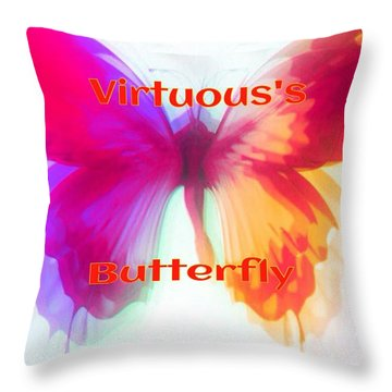Throw Pillow featuring the digital art Virtuous Butterfly by Gayle Price Thomas