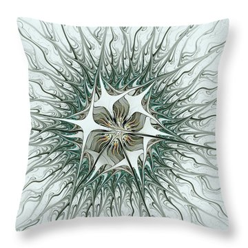 Virus Throw Pillow by Anastasiya Malakhova