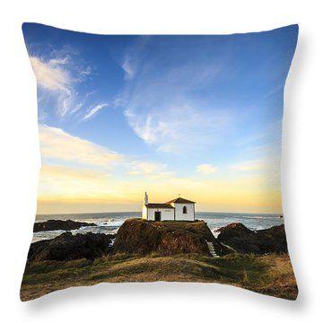 Virxe Do Porto Meiras Galicia Spain Throw Pillow