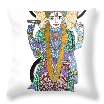 Vishnu II Throw Pillow