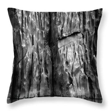 Vishnu Schist Throw Pillow by Inge Johnsson