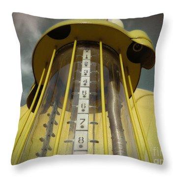 Visible Gas Pump Throw Pillow
