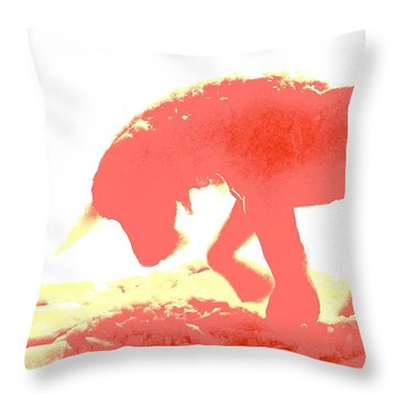 Visible Pink Unicorn 2 Throw Pillow