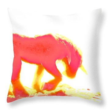 Visible Pink Unicorn Throw Pillow