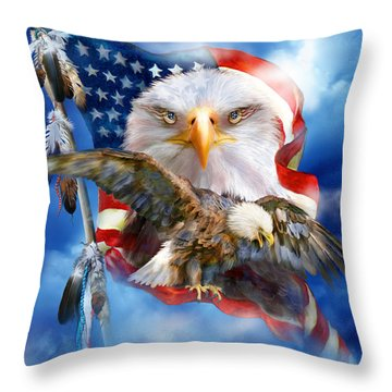 Vision Of Freedom Throw Pillow by Carol Cavalaris