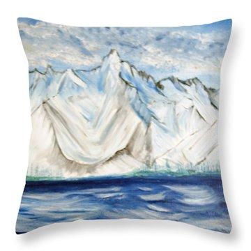 Vision Of Mountain Throw Pillow