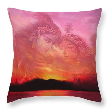 Vision Over The Yamuna Throw Pillow