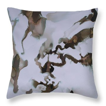 Throw Pillow featuring the painting Vision Quest by Mary Sullivan