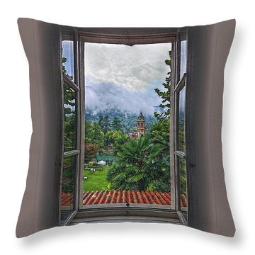 Throw Pillow featuring the photograph Vision Through The Window by Hanny Heim