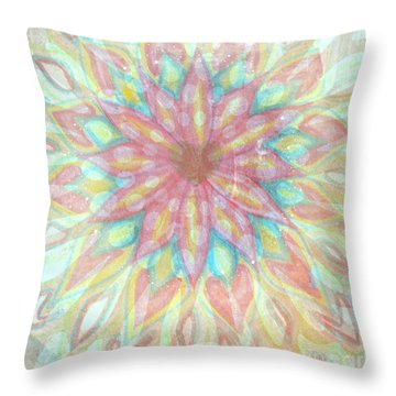 Visionary Crown Chakra Throw Pillow by Sacred  Muse