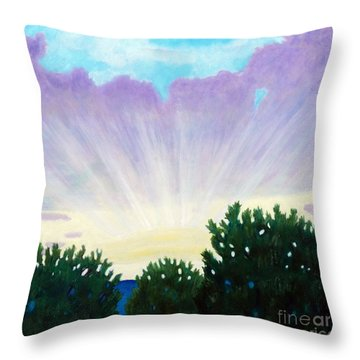 Visionary Sky Throw Pillow by Brian  Commerford