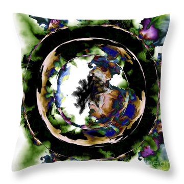 Visions Echo In The Crystal Ball Throw Pillow