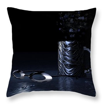 Throw Pillow featuring the digital art Visions Of Black by Jacqueline Lloyd