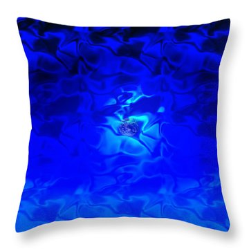 Visions Of Blue Throw Pillow by Kellice Swaggerty