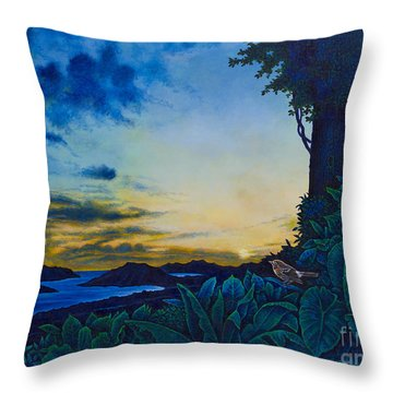 Visions Of Paradise II Throw Pillow