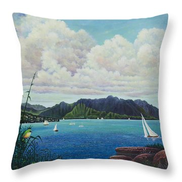 Visions Of Paradise IIi Throw Pillow