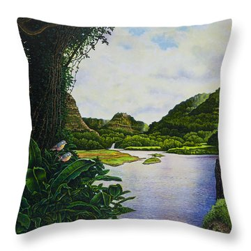 Visions Of Paradise Iv Throw Pillow