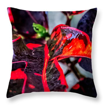Visions Of Red Throw Pillow