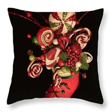 Throw Pillow featuring the photograph Visions Of Sugarplums Dance In Their Heads by Photography by Laura Lee