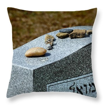 Visitation Stones On Jewish Grave Throw Pillow by Amy Cicconi