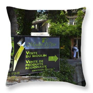 Throw Pillow featuring the photograph Visite Du Moulin by Allen Sheffield