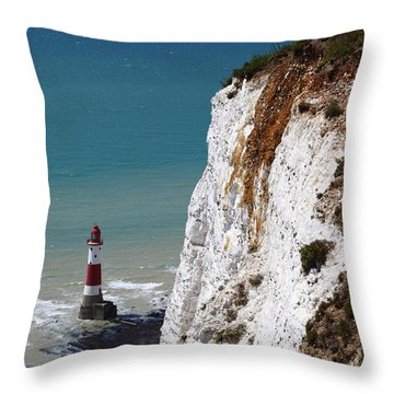 Visiting Beachy Head Throw Pillow by James Brunker