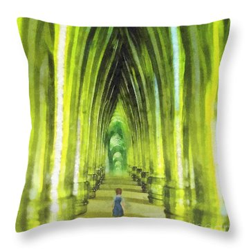 Visiting Emerald City Throw Pillow by Mo T