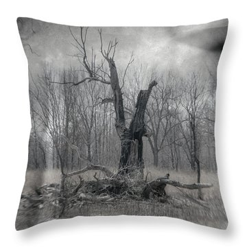 Visitor In The Woods Throw Pillow