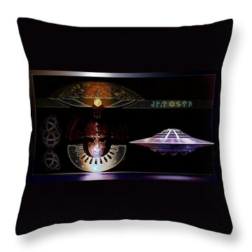 Throw Pillow featuring the digital art Visitor To Atlantis by Hartmut Jager