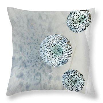 Visitors Throw Pillow by Marcia Lee Jones