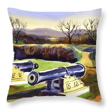 Visitors Welcome At Fort Davidson Throw Pillow by Kip DeVore