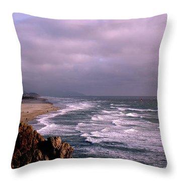 Vista Del Mar San Francisco Throw Pillow by M Bleichner