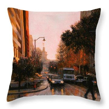 Vista Drizzle Throw Pillow by Blue Sky