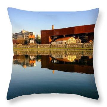 Vistula River 2 Throw Pillow by Tomasz Dziubinski