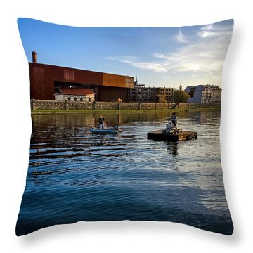 Vistula River Throw Pillow by Tomasz Dziubinski