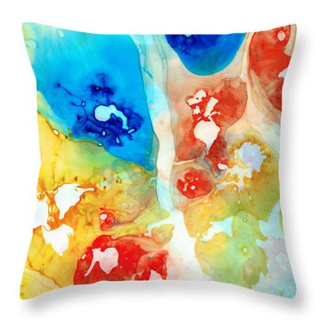 Vitality - Contemporary Art By Sharon Cummings Throw Pillow
